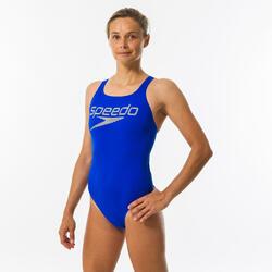 Badeanzug Medalist Damen blau