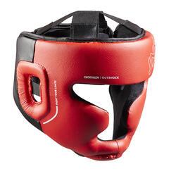 Volledige hoofdbeschermer voor boksen kinderen 500 rood