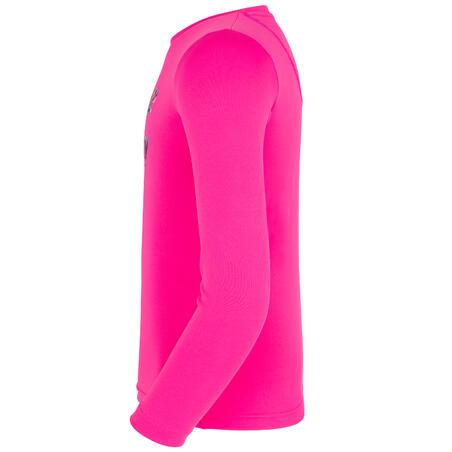 kids' surfing anti-UV long-sleeved printed water T-shirt - pink
