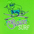 TOPY NA OCHRANU PŘED SLUNCEM A CHLADEM Surfing a bodyboard - DĚTSKÉ TRIČKO KID100 ZELENÉ OLAIAN - Plavky a trička s UV ochranou