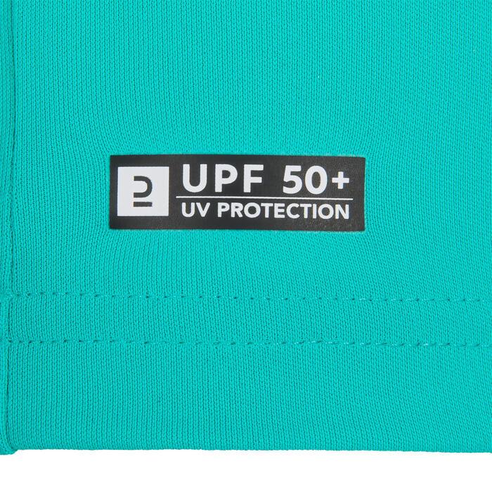 Wasser-T-Shirt UV-Schutz Surf Kinder türkisgrün bedruckt