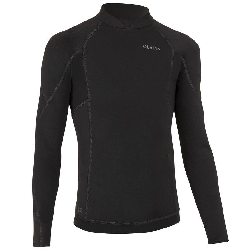 Bluză neopren surf 1,5 mm 900 Negru Băieți