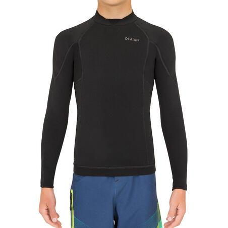 Junior Neoprene Top Surf 900 1.5 mm - black