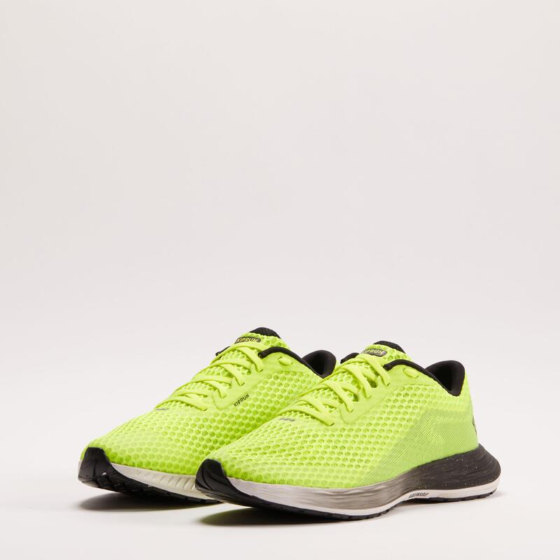Dynamische hardloopschoenen voor heren KD500 geel/zwart