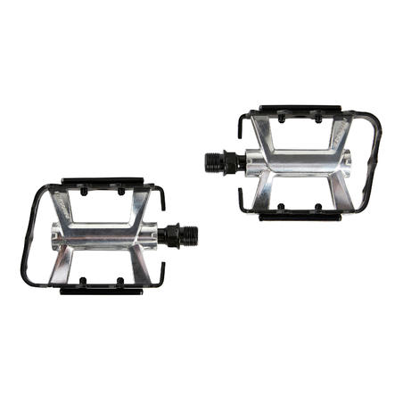 Flat Aluminium Mountain Bike Pedals 500