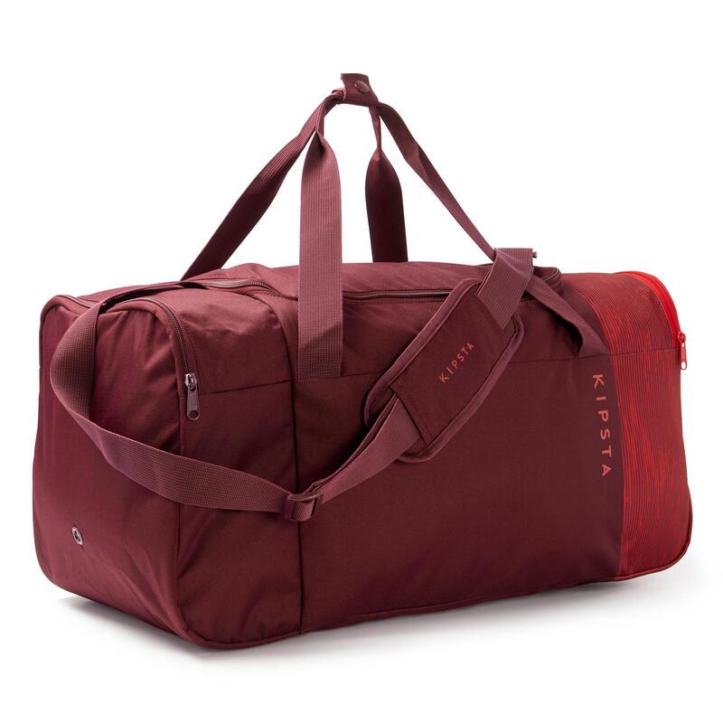 Bolsa de Deporte Kipsta Essentiel 55 litros rojo burdeos