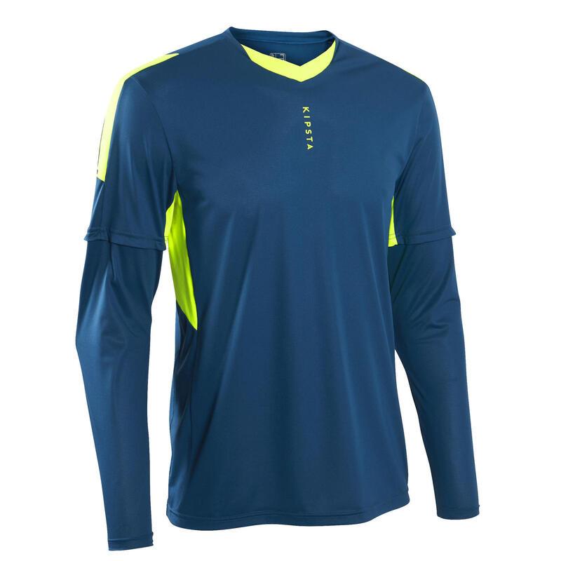 Camiseta de portero de fútbol adulto F500 azul