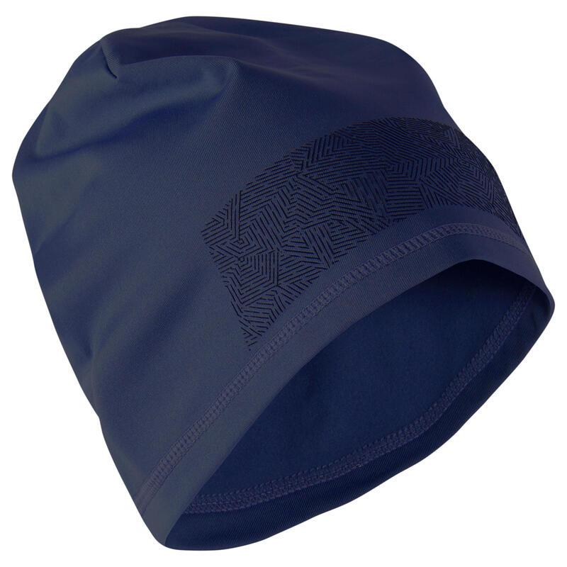 Bonnet Keepdry 500 adulte football bleu foncé