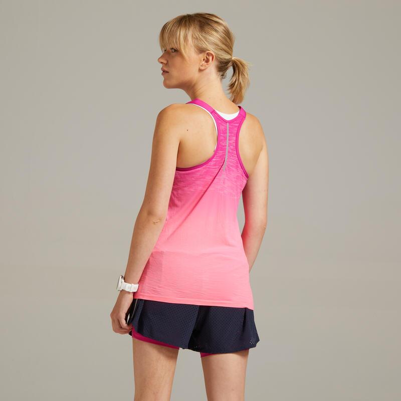 เสื้อกล้ามผู้หญิงระบายอากาศได้ดีสำหรับใส่วิ่งรุ่น KIPRUN CARE (สีชมพู)