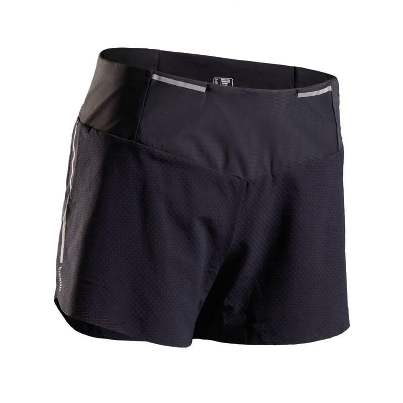 DÁMSKÉ BĚŽECKÉ OBLEČENÍ TEPLÉ/MÍRNÉ POČASÍ Běh - BĚŽECKÉ KRAŤASY LIGHT KIPRUN - Běžecké oblečení