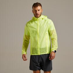 Giacca impermabile running uomo KIPRUN LIGHT gialla