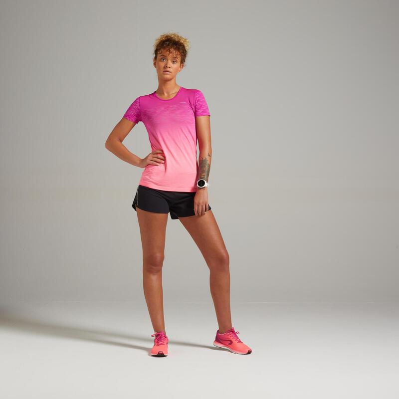 Camiseta Running Kiprun Care Mujer Rojo Transpirable