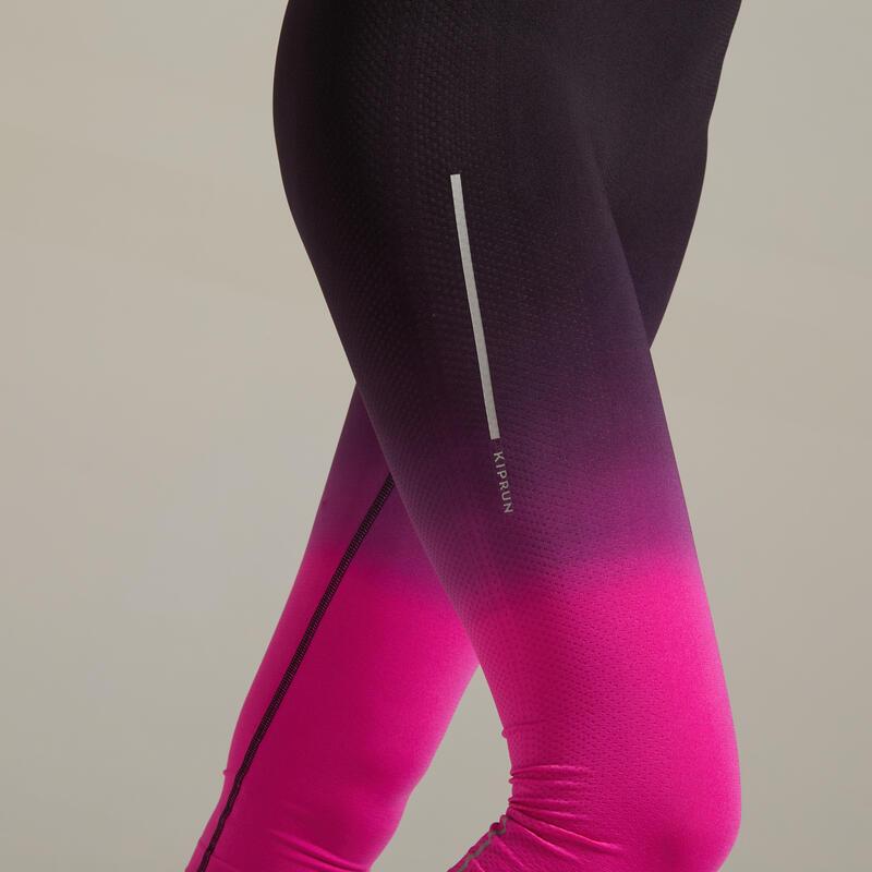 กางเกงขาส่วนผู้หญิงระบายอากาศได้ดีสำหรับใส่วิ่งรุ่น KIPRUN CARE (สีดำ/ชมพู)