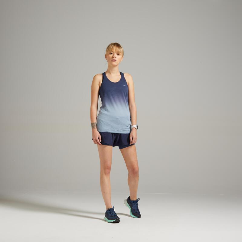 Kadın Gri Mavi Sporcu Atleti / Yol Koşusu - KIPRUN CARE