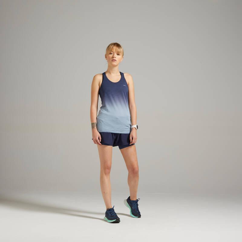 DÁMSKÉ BĚŽECKÉ OBLEČENÍ TEPLÉ/MÍRNÉ POČASÍ Běh - BĚŽECKÉ TÍLKO CARE  KIPRUN - Běžecké oblečení
