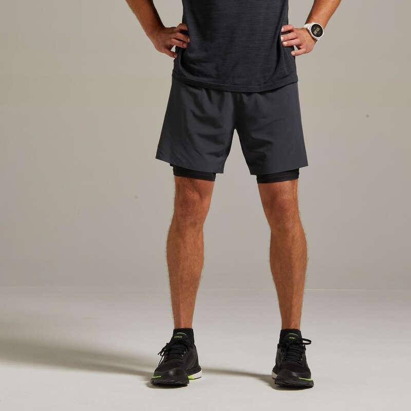 Run Bekleidung warmes Wetter Herren Laufen - Laufshorts 2-in-1 Kiprun KIPRUN - Laufbekleidung