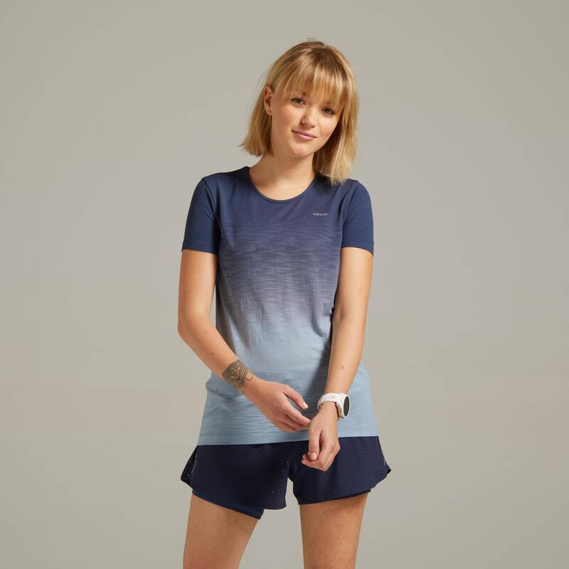 DÁMSKÉ BĚŽECKÉ OBLEČENÍ TEPLÉ/MÍRNÉ POČASÍ Běh - BĚŽECKÉ TRIČKO CARE  KIPRUN - Běžecké oblečení