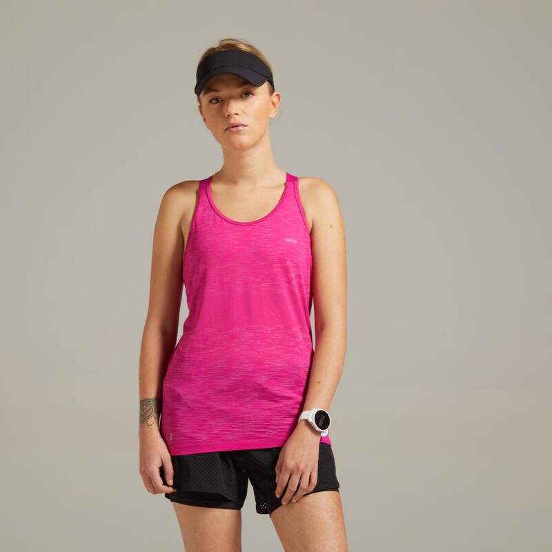 DÁMSKÉ BĚŽECKÉ OBLEČENÍ TEPLÉ/MÍRNÉ POČASÍ Běh - TÍLKO KIPRUN CARE RŮŽOVÉ  KIPRUN - Běžecké oblečení