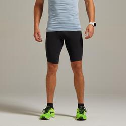 男款跑步緊身短褲 - 黑色