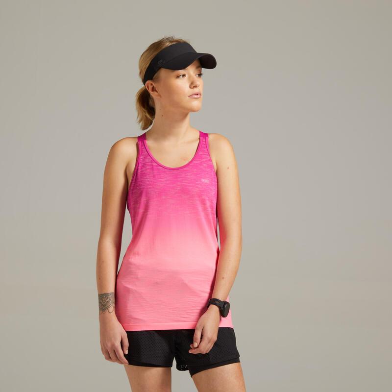 Canotta con top running donna KIPRUN CARE rosa
