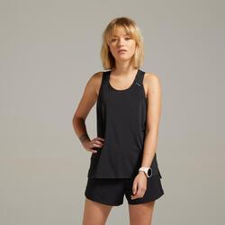 女款輕盈透氣跑步背心Kiprun Light - 黑色