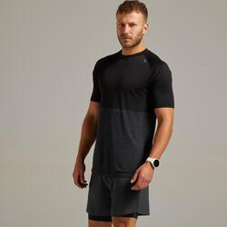 Ademend hardloop T-shirt voor heren Care zwart