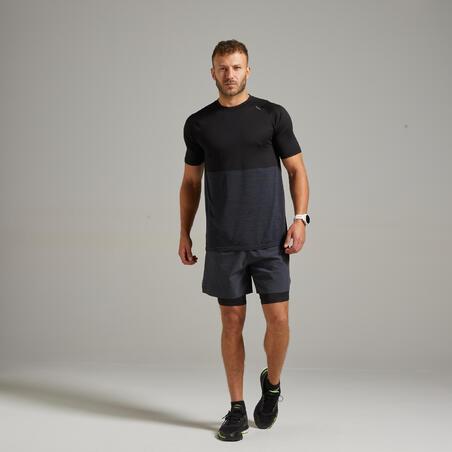 Kiprun Care Men's Running Breathable T-Shirt - black