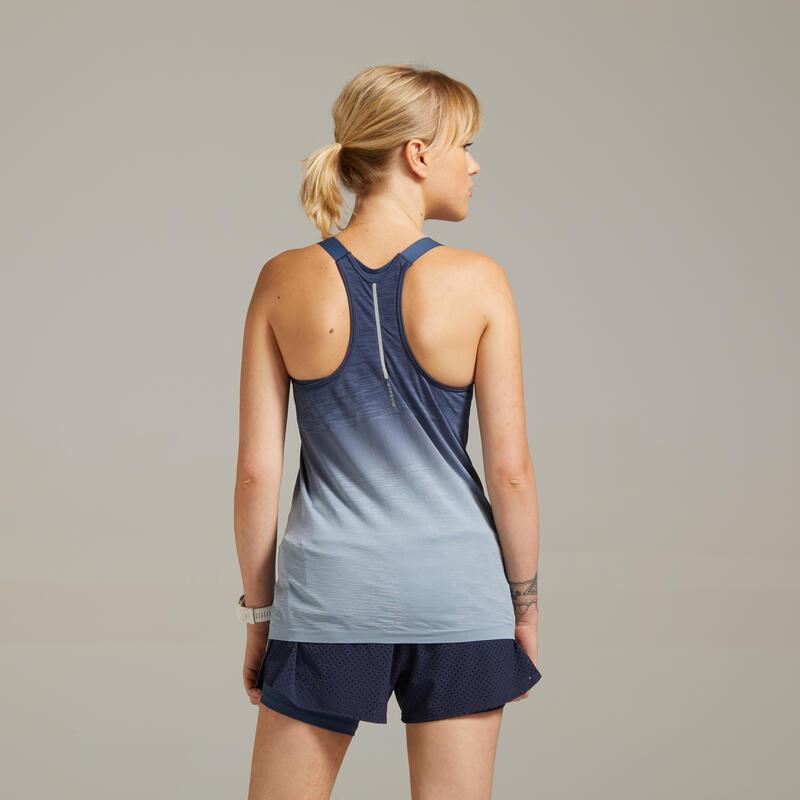 เสื้อกล้ามใส่วิ่งเสริมบรารุ่น KIPRUN CARE (สีน้ำเงิน/เทา)