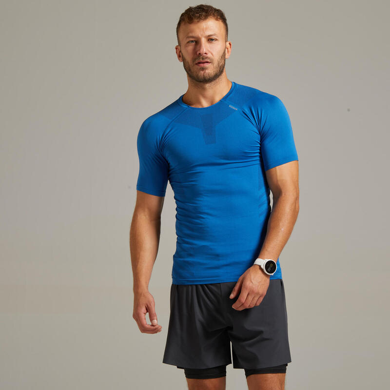 Kiprun Skincare Men's Running Breathable Tee-Shirt - Royal Blue