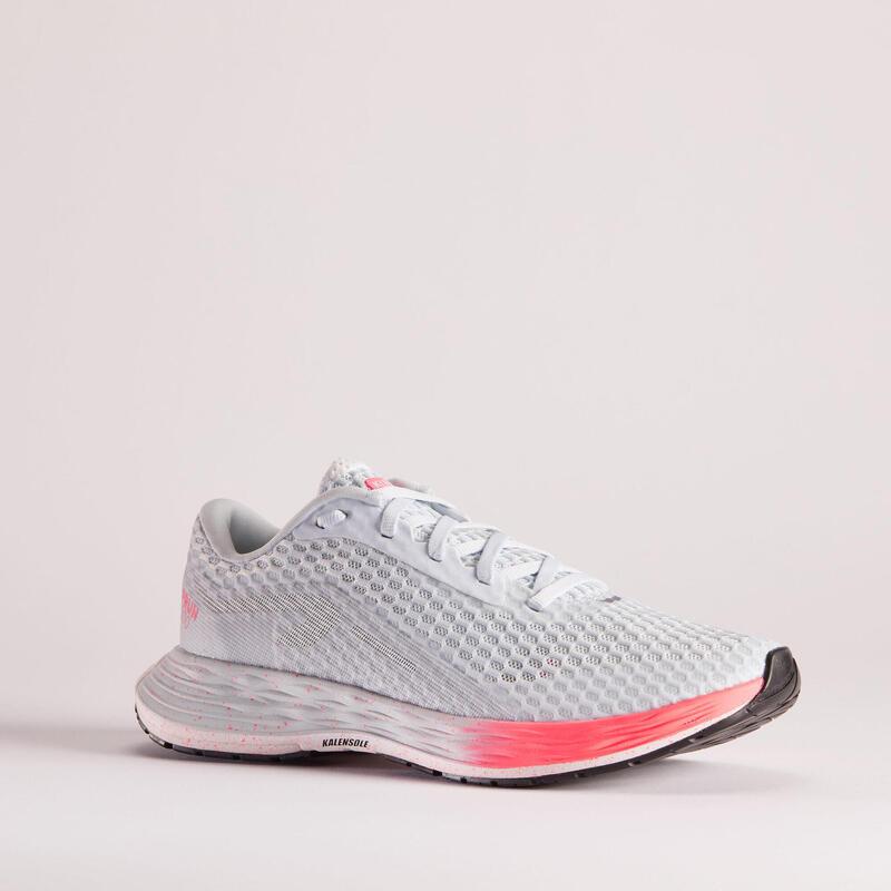 Scarpe running donna KIPRUN KD500 grigio-rosa