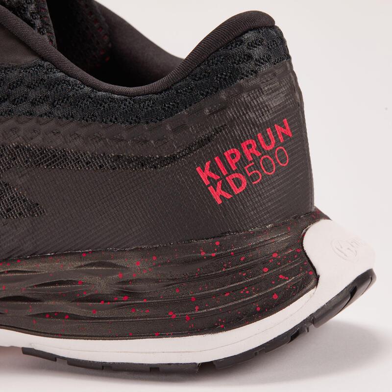 รองเท้าวิ่งสำหรับผู้ชายรุ่น Dynamic Kiprun KD500 (สีดำ/ชมพู)