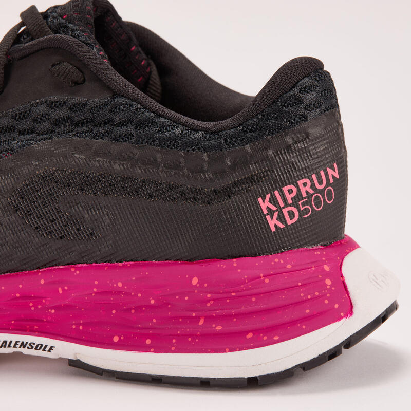 รองเท้าวิ่งสำหรับผู้หญิงรุ่น Kiprun KD500 (สีดำ/ชมพู)