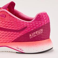 CHAUSSURE DE RUNNING FEMME KIPRUN ULTRALIGHT ROSE