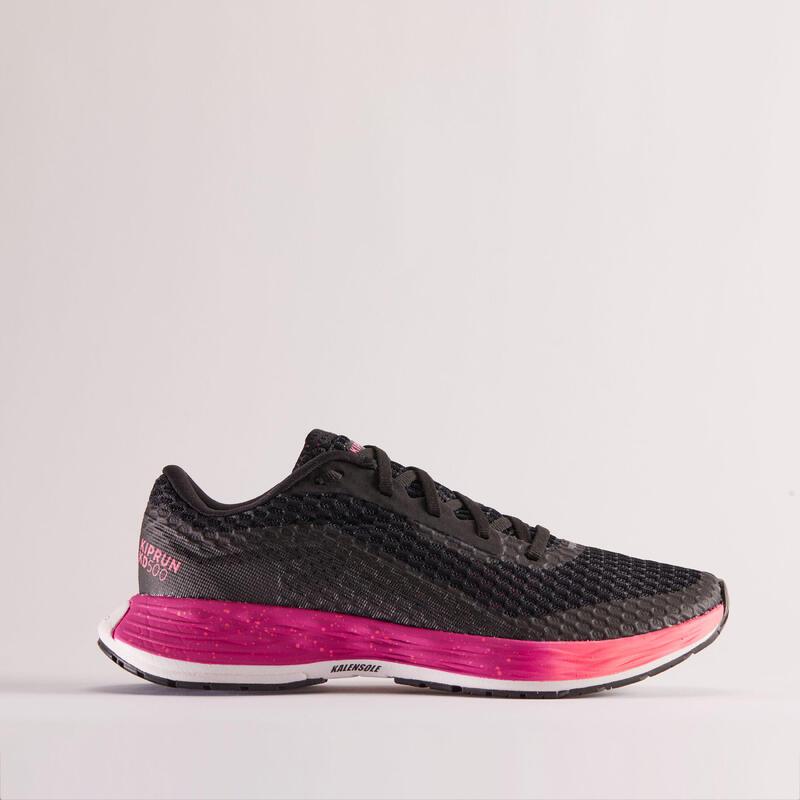 Scarpe running donna KIPRUN KD500 nero-rosa