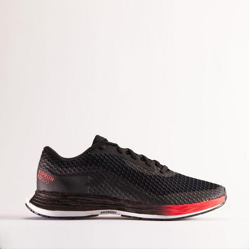 Dynamische hardloopschoenen voor heren KD500 zwart/roze limited edition