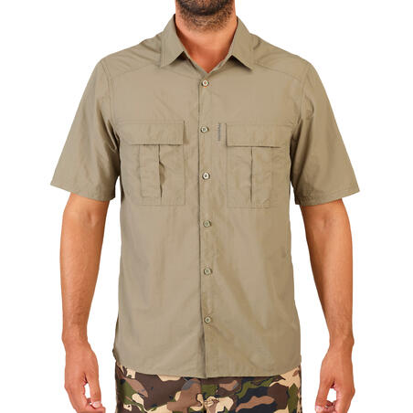 Short-sleeved lightweight and breathable hunting shirt SG100 - light green