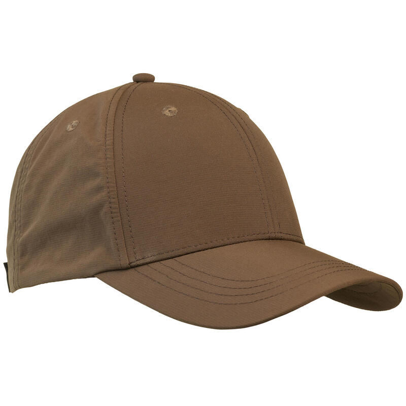 Lightweight and breathable hunting cap 500 - Brown