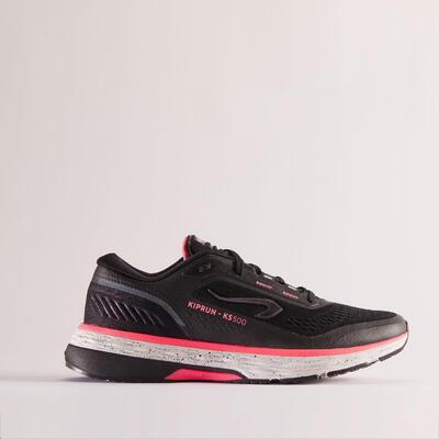 Women's Running Shoes Kiprun KS 500 - black pink