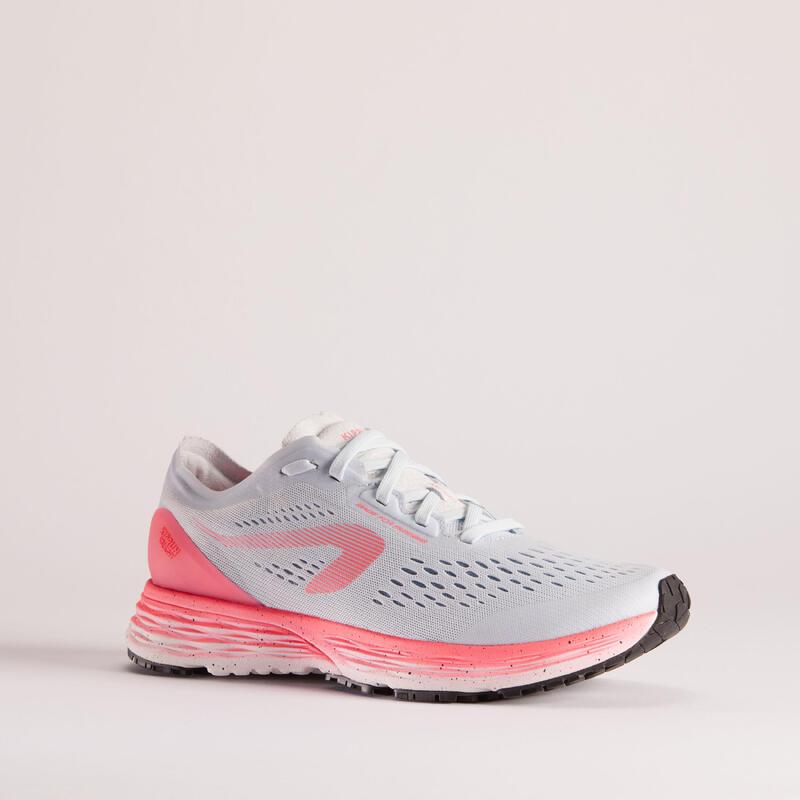 Hardloopschoenen voor dames KS Light lichtgrijs/roze