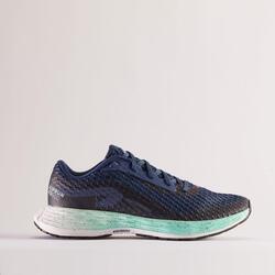 女款跑鞋Kiprun KD500 - 藍色/綠色