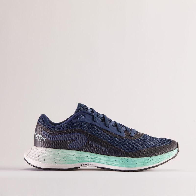 Scarpe running donna KIPRUN KD500 azzurro-verde