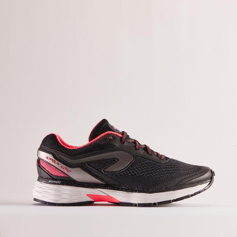 Scarpe running donna KIPRUN LONG2 nero-rosa