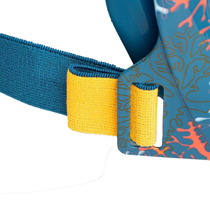 Schnorchelmaske Easybreath Junior Kinder 6–10Jahre Größe XS blau/koralle