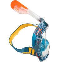 Koralno-plava dečja maska za snorkeling EASYBREATH (6–10 godina / veličina XS)