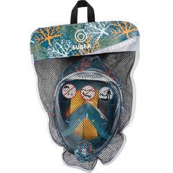Máscara de Snorkeling superfície Easybreath Júnior (6-10 anos/tamanho XS) Coral