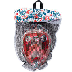 Máscara de Snorkeling à superfície Easybreath Júnior (6-10 anos/tamanho XS) Flor