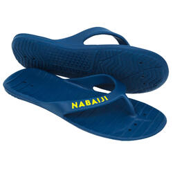 男款泳池夾腳拖TONGA 100 BASIC -藍色