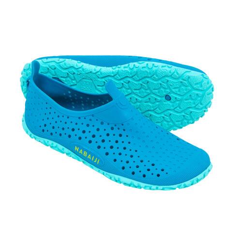 Chaussures de piscine enfant aquadots 100 bleu vert