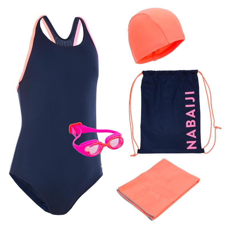 Ensemble de natation START: maillot de bain, lunettes, casque, serviette, sac