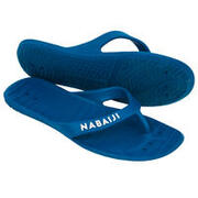WOMEN'S POOL FLIP-FLOPS TONGA 100 BASIC - BLUE